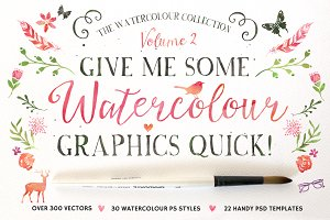 20%off • Watercolour Graphics Quick!