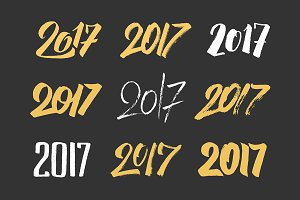 New Year 2017 Lettering Designs