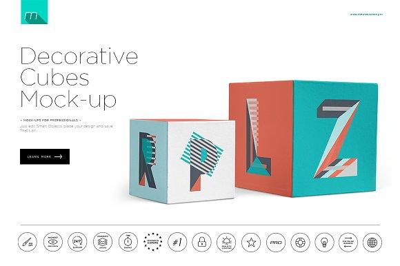 Free Decorative Cubes Mock-up