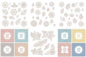 Floral & vintage lineart bundle