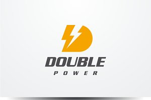 Double Power - Letter D Logo