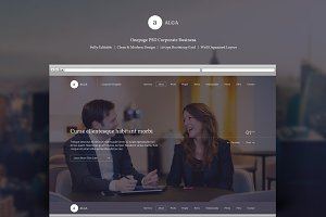 Alga-One Page PSD Template