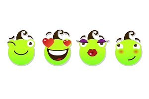 Set of smileys.