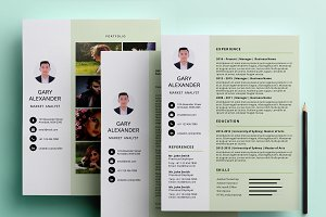 Simple PowerPoint resume pack