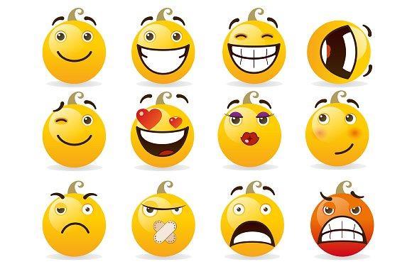 Set of smileys. Vector illustration - Illustrations
