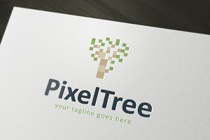 Pixel Tree Logo Template