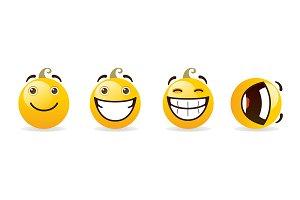 Smiles set on a white background