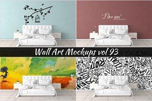 Wall Mockup - Sticker Mockup Vol 93
