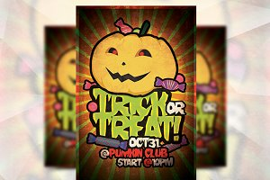 Trick or Treat - Flyer Template