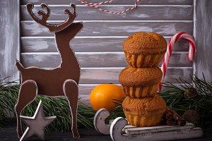 Christmas homemade cupcake