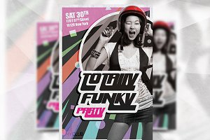 Totally Funky - Flyer Template