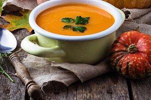 Vegetarian pumpkin soup