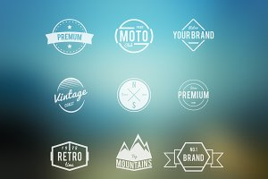 Vector Retro Badges