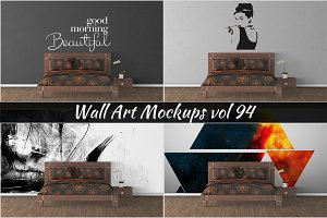 Wall Mockup - Sticker Mockup Vol 94