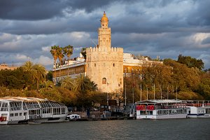 Gold Tower at Sunset in Seville