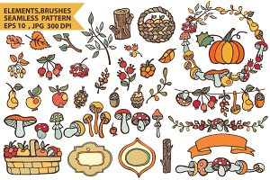 Berries,mushrooms,fruits,decor