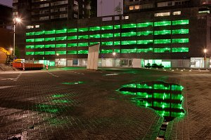 Green Light Urban Abstract