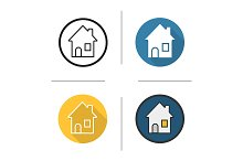 House. 4 icons. Vector