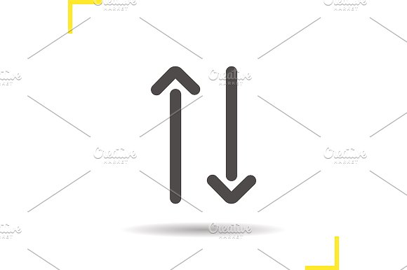 Up and down arrows icon. Vector - Icons