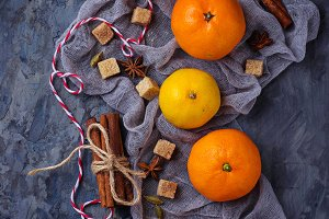 tangerines and Christmas spices