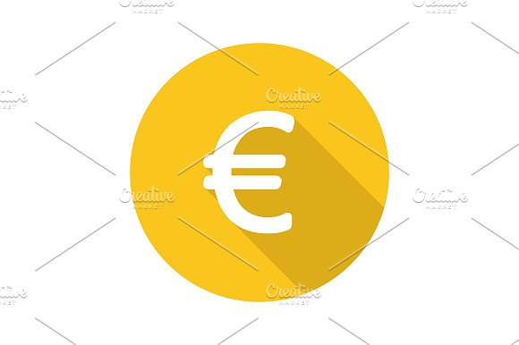 Euro currency sign. Vector - Icons