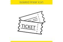 Tickets linear icon. Vector
