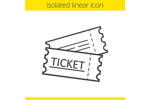 Tickets linear icon. Vector