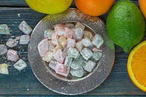 Citrus jelly candies