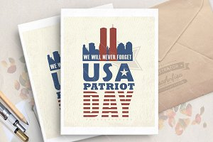 USA patriot day vector card
