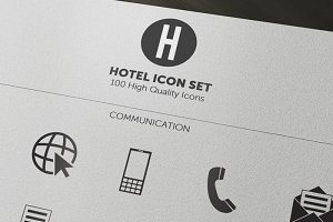 100 Minimal Hotel Icons