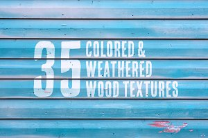 35 Colored & Weathered Wood Textures