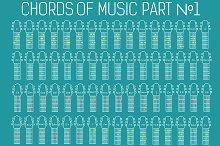Classic guitar music chords vector