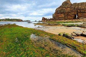 Atlantic ocean coast landscape