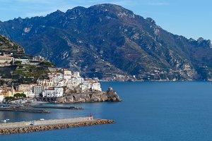 Amalfi Coast panorama, Italy.