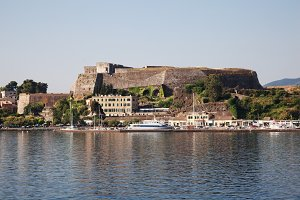 Old fort of Kerkyra town, Corfu, Gr.