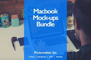 Macbook Mock-ups Bundle