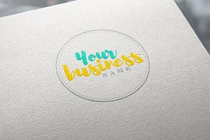 Round Handlettered Customizable Logo