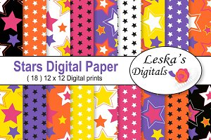 Digital Paper Pack - Star Patterns