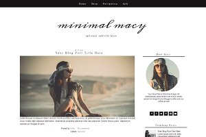Blogger Template - Black & White