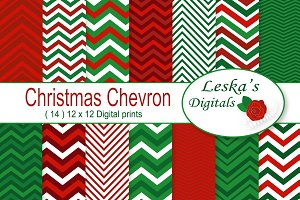 Christmas Chevron Patterns