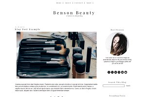 Blogger Template Simple Beauty