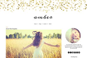 Blogger Template Glitter Gold Amber