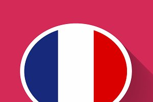 Speech bubble with France flag