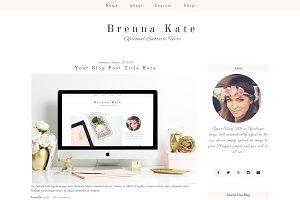 Pink Blogger Template - Brenna