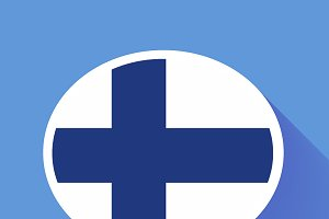Speech bubble with Finland flag