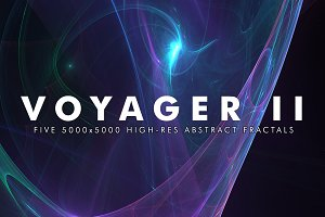 Voyager II - Fractal Background Art