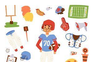 American football player vector icon