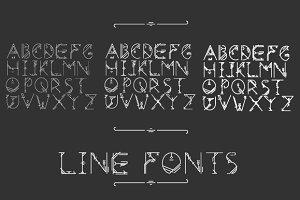 Line fonts pack