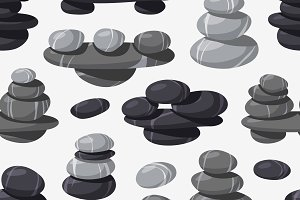 Spa stone seamless vector