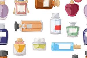 Perfume glamour seamless pattern